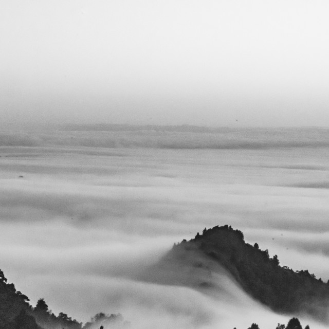 """""""Fog over the valley-1"""" stock image"""