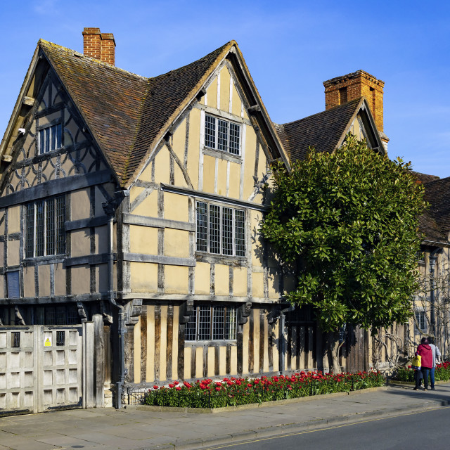 """Hall's Croft in Stratford-upon-Avon, England, UK"" stock image"
