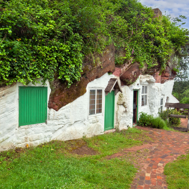 """Kinver Edge Rock Houses (Stourbridge) - The Original Hobit Holes, England, UK"" stock image"