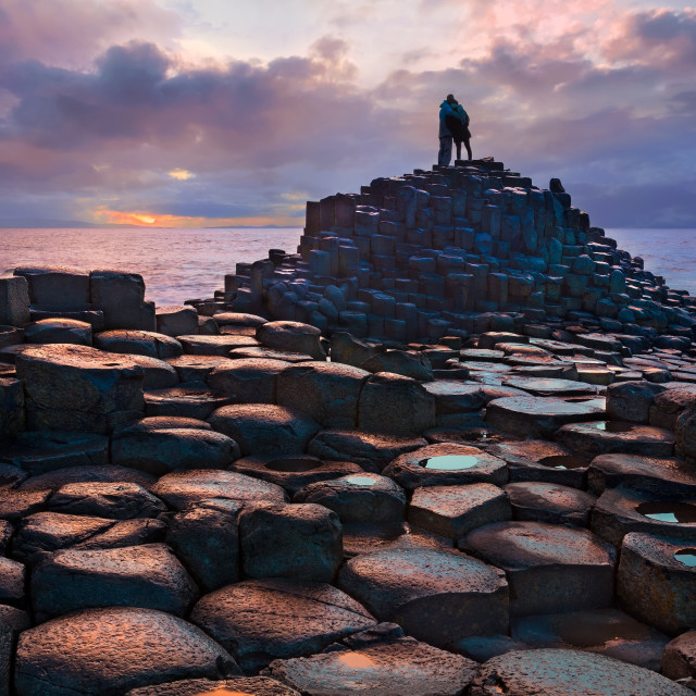 """Giant's Causeway, Northern Ireland, UK"" stock image"