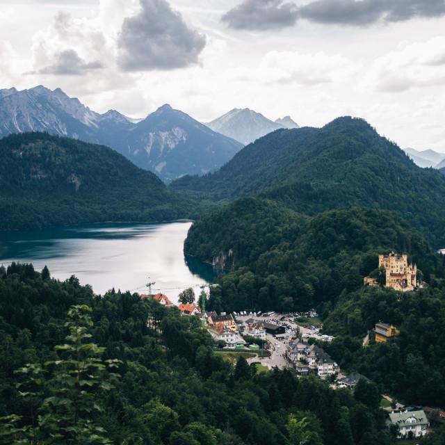 """Alpsee Mountain Landscape"" stock image"