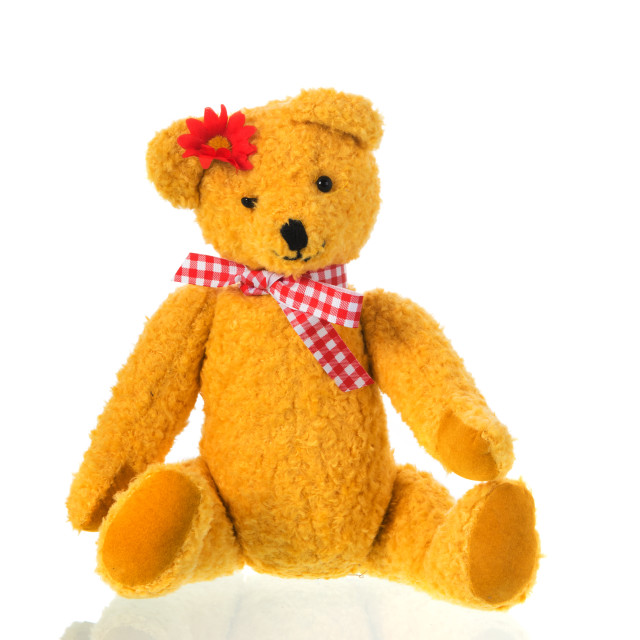 """""""Stuffed toy bear with bow"""" stock image"""