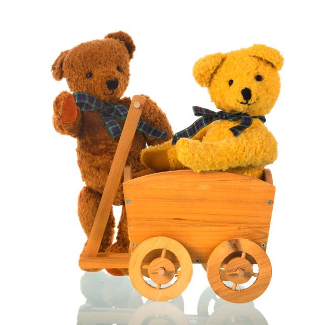 """Stuffed toy bears"" stock image"