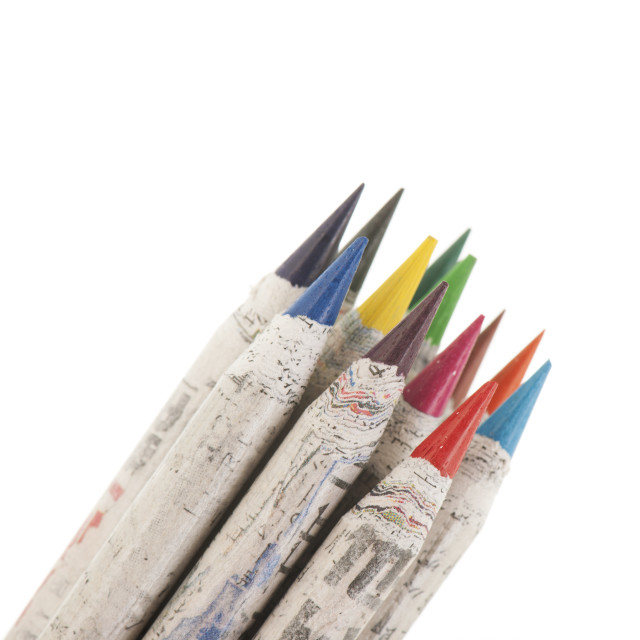 """""""Colored pencils isolated over white background"""" stock image"""