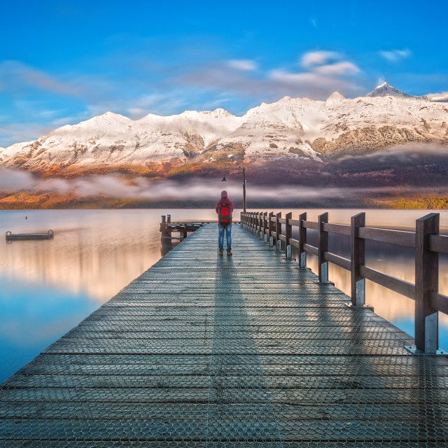 """The Wharf of Glenorchy, New Zealand"" stock image"