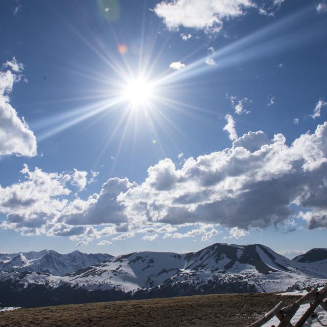 """Rocky Mountain Sky"" stock image"