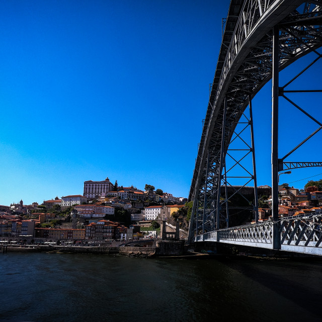"""Luis l Bridge & Porto City"" stock image"