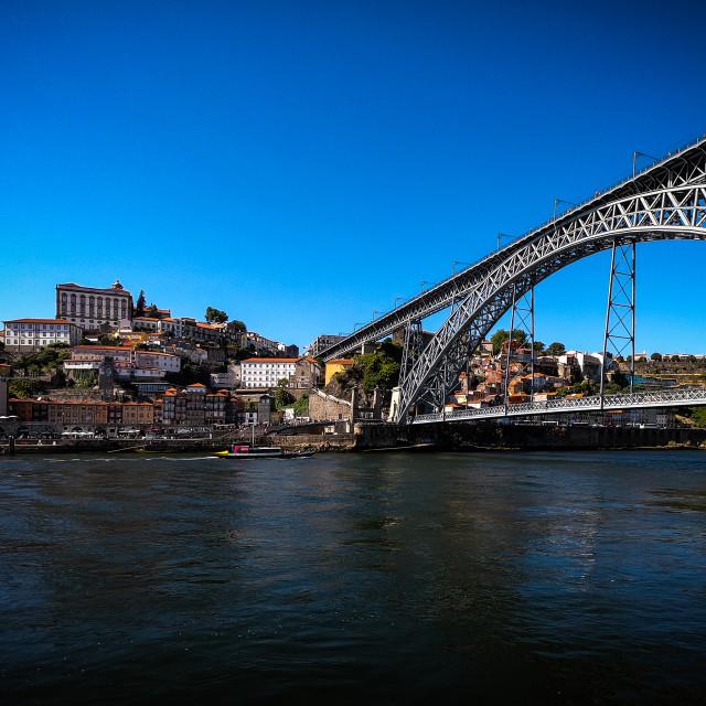 """Douro River & Luis l Bridge"" stock image"
