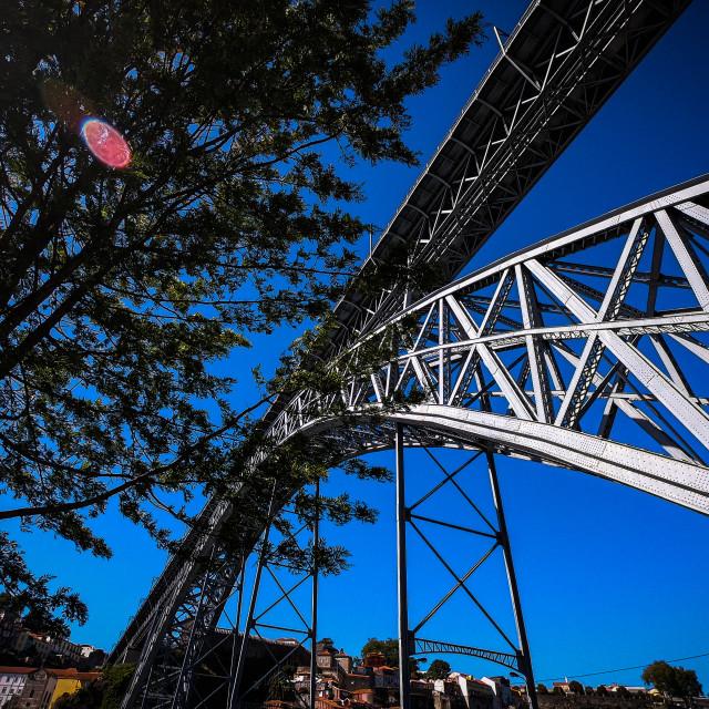 """Under the Luis l Bridge"" stock image"
