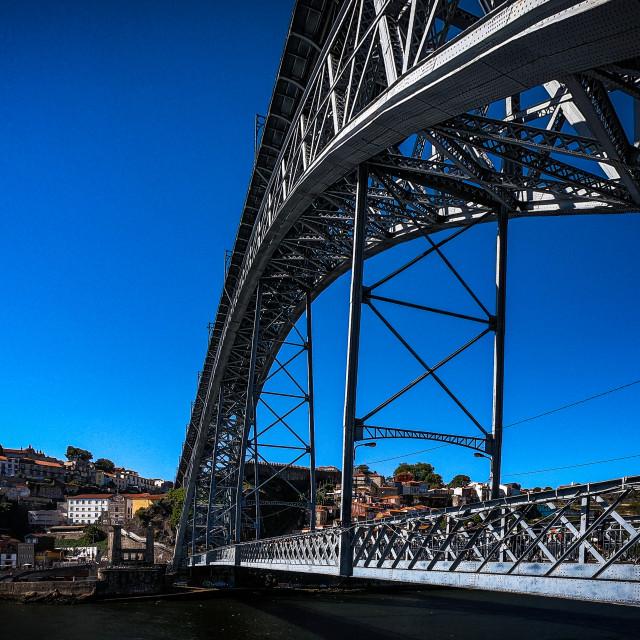 """""""Across the Luis l Bridge"""" stock image"""