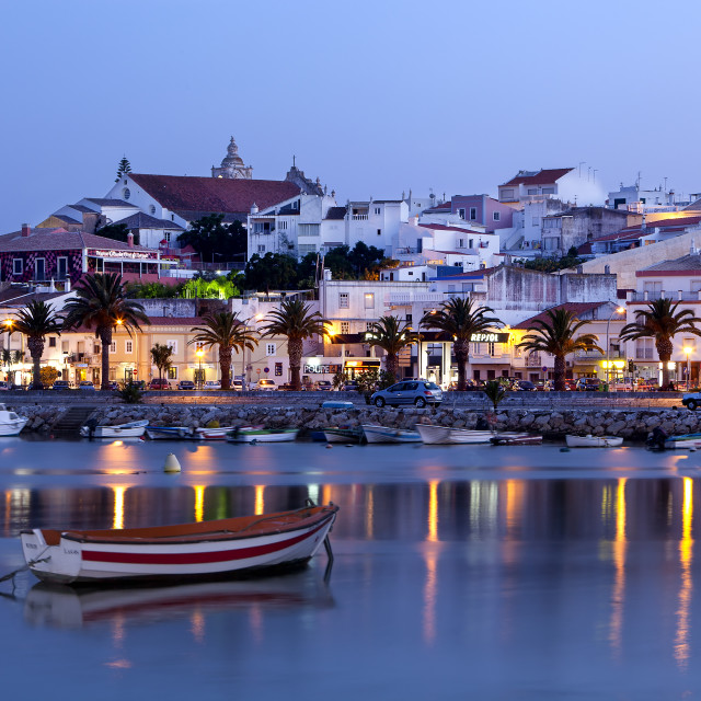 """Lagos at dusk, Algarve, Portugal"" stock image"