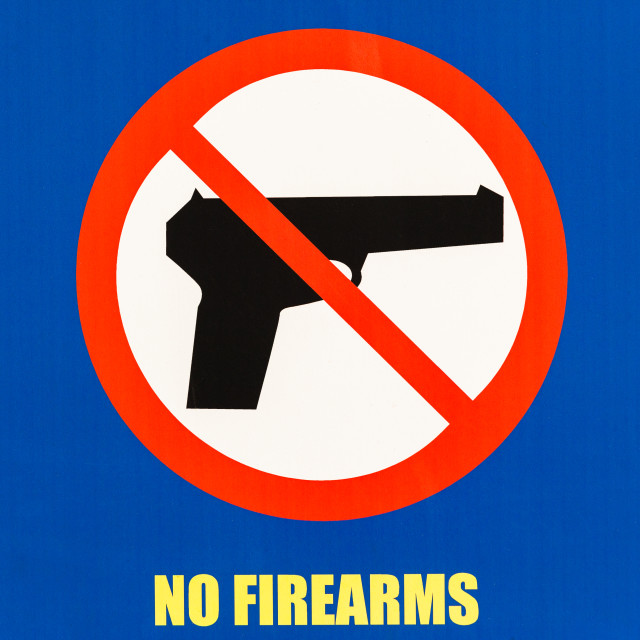 """""""Sign NO FIREARMS Public Illustration"""" stock image"""