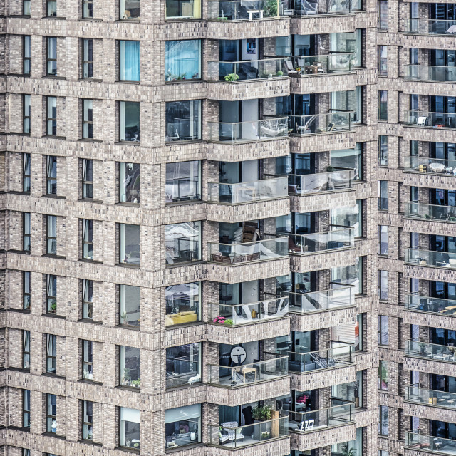 """""""Rotterdam residential towers"""" stock image"""