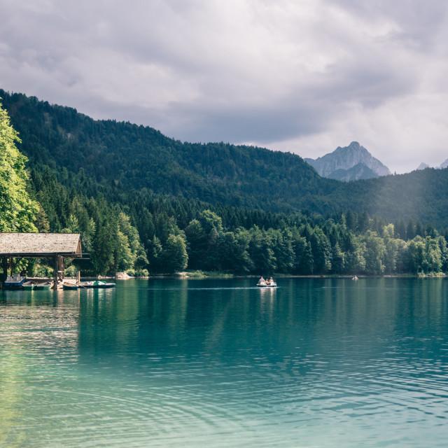 """Alpsee Summer Lake"" stock image"