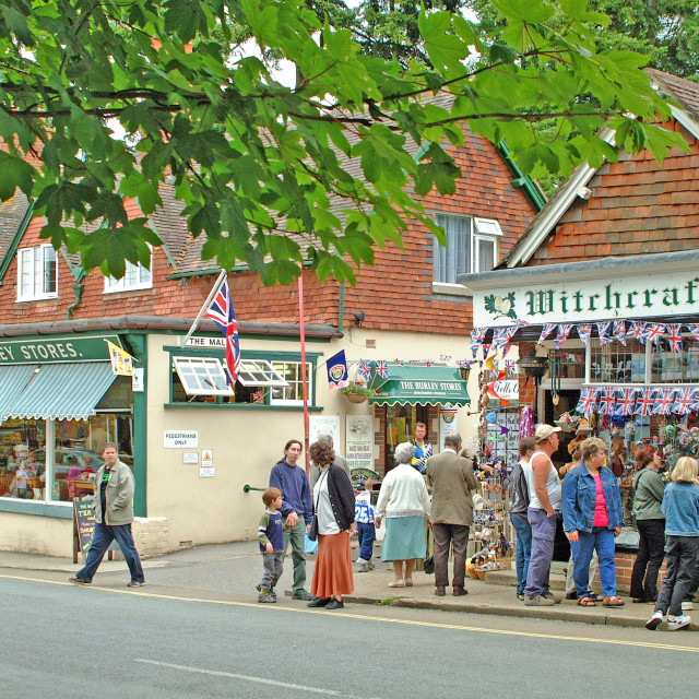"""""""Burley Village New Forest"""" stock image"""