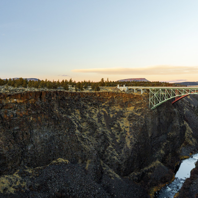 """""""US 97 Highway Bridge Over the Crooked River canyon"""" stock image"""