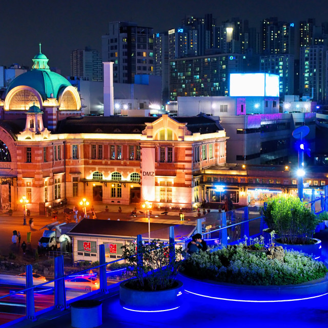 """Seoullo 7017 and Seoul Station"" stock image"