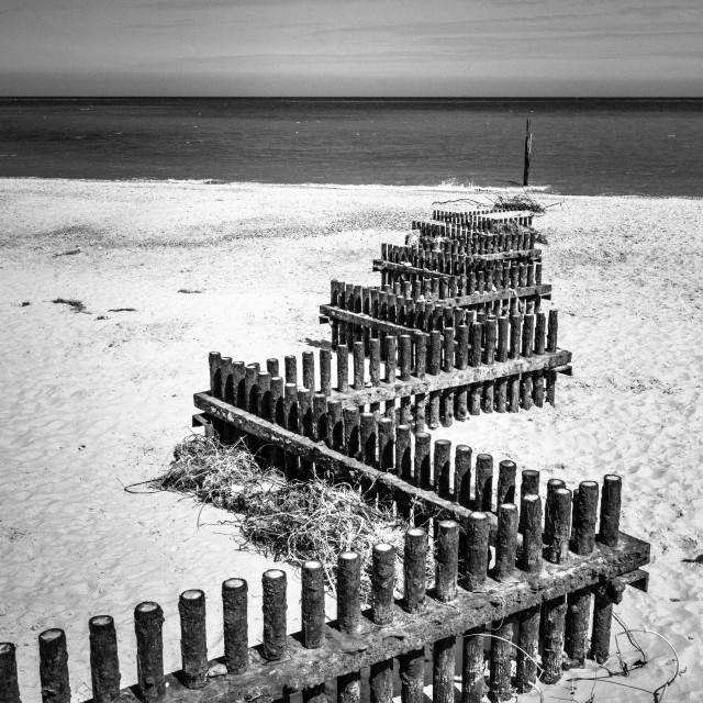 """Zigzag to the sea"" stock image"
