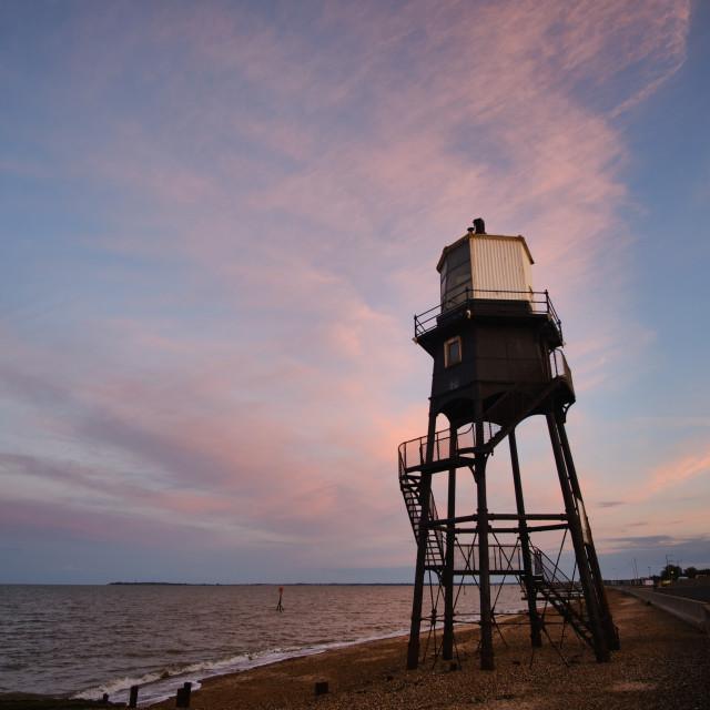 """""""Dovercourt High Light June Sunset"""" stock image"""