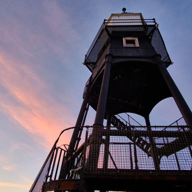 """""""Sunset Above the High Lighthouse in Dovercourt"""" stock image"""