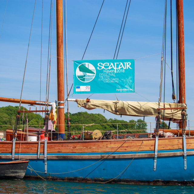 """""""Wooden Ketch Sail Boat"""" stock image"""
