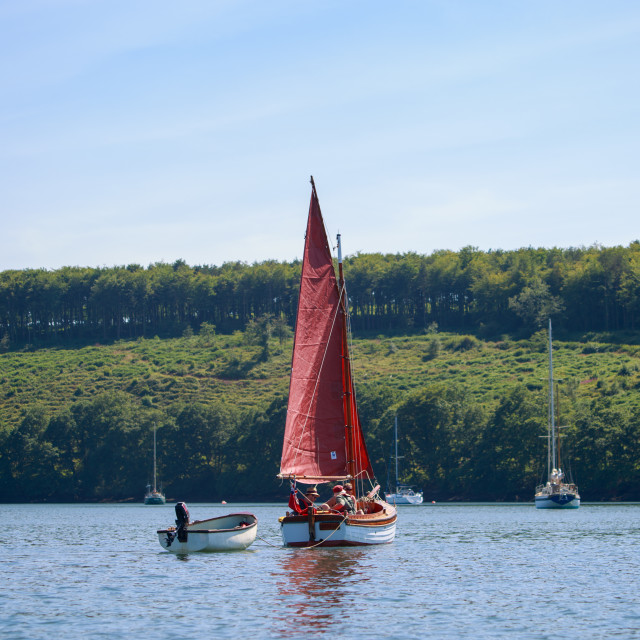 """""""Gaff Cutter Sailing Boat"""" stock image"""