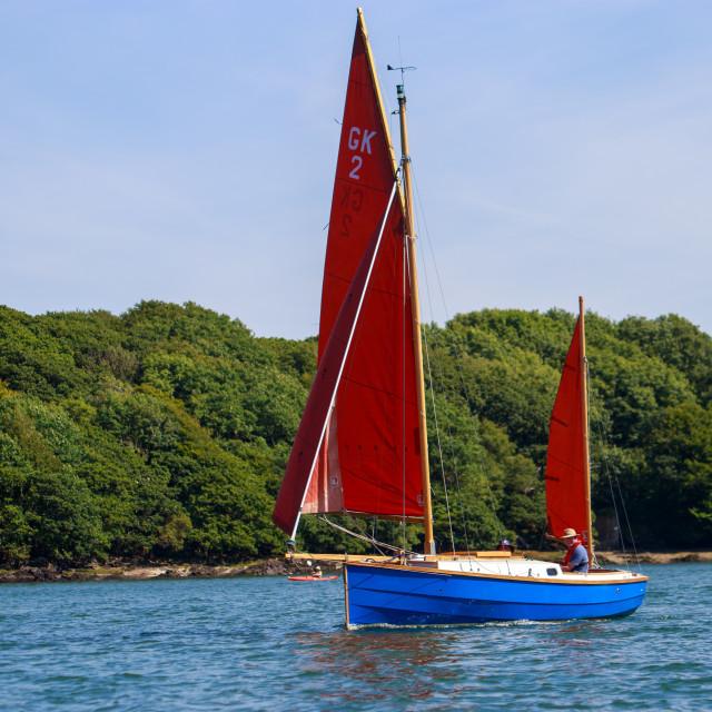 """Classic yawl Sail boat"" stock image"