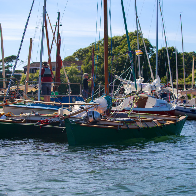 """Lawrenny Pontoon Seafair Haven 2018"" stock image"