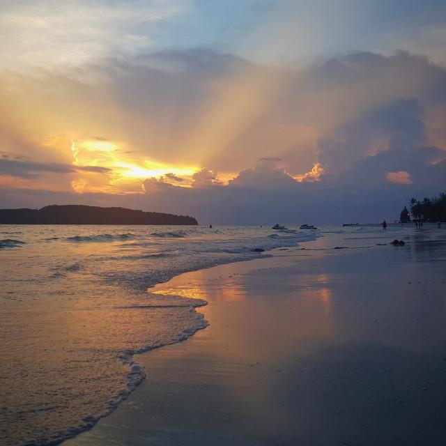 """""""Langkawi Sunset"""" stock image"""