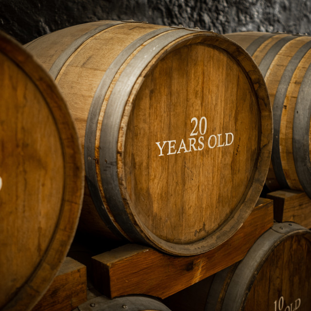 """Port wine barrels"" stock image"