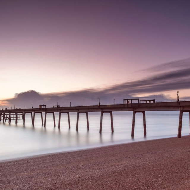"""""""Deal Pier at Dawn"""" stock image"""