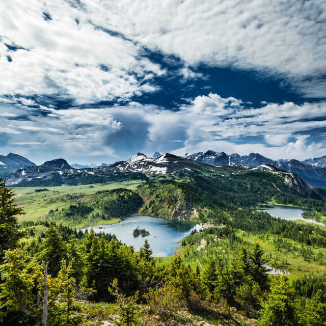 """Canadian Rockies"" stock image"