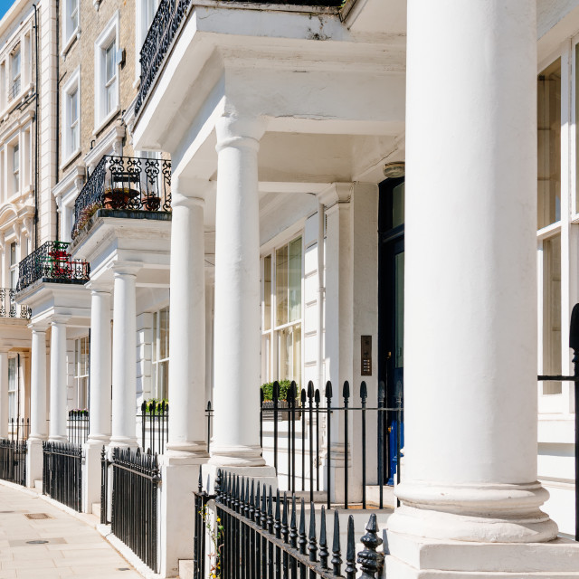 """Victorian houses in Notting Hill in London"" stock image"
