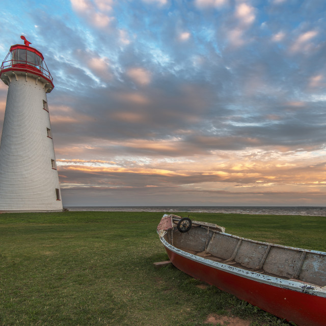 """Point Prim Lighthouse, PEI Canada"" stock image"