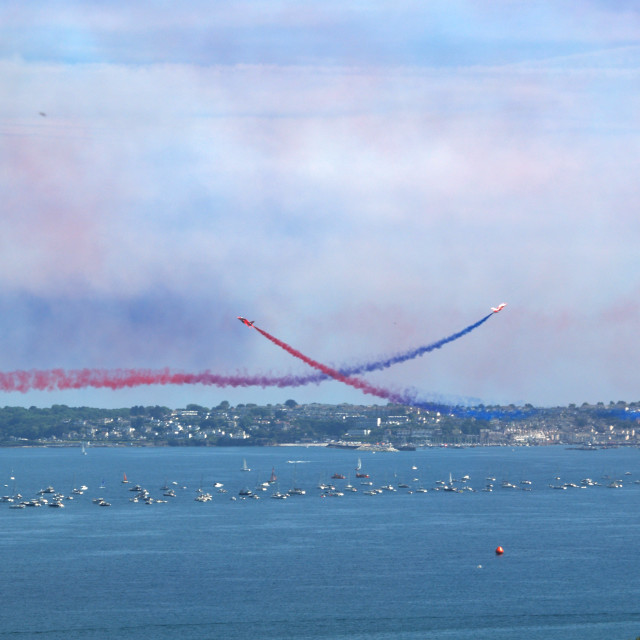 """""""Red Arrows crossing"""" stock image"""