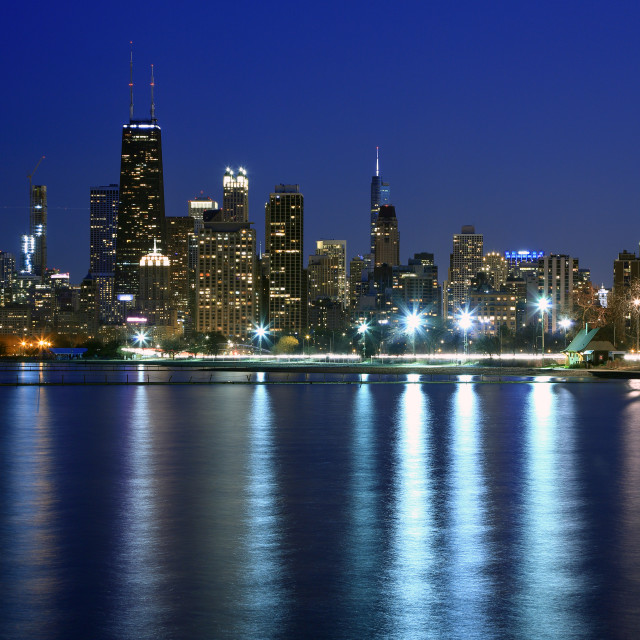 """""""Chicago after sunset"""" stock image"""