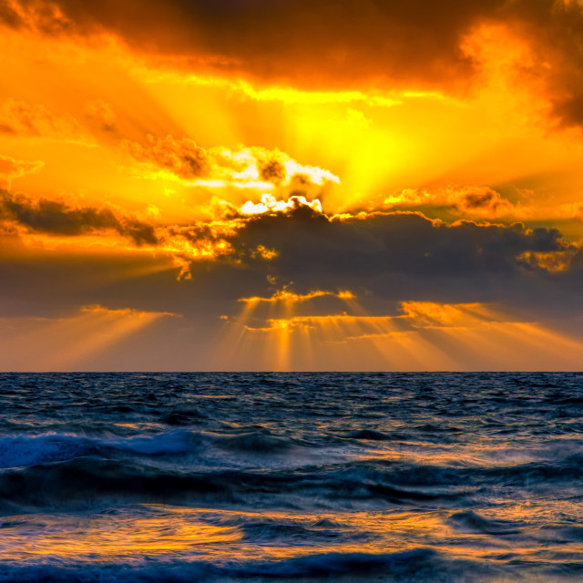 """Indian Ocean Sunset"" stock image"