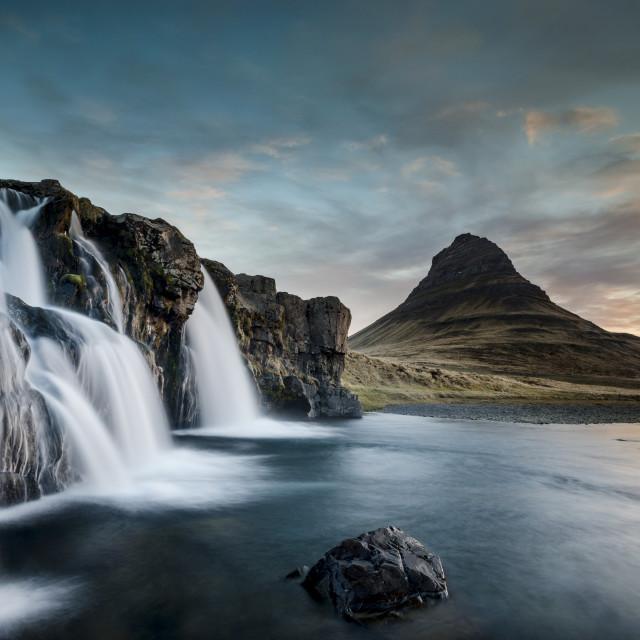 """""""Kirkjufell, Iceland, sunrise"""" stock image"""