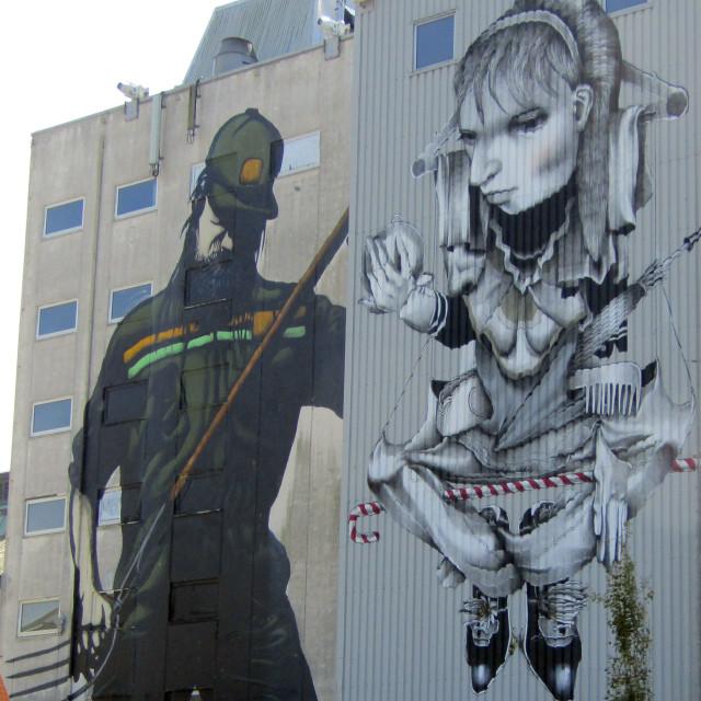 """Bryne, Norway wall mural art"" stock image"