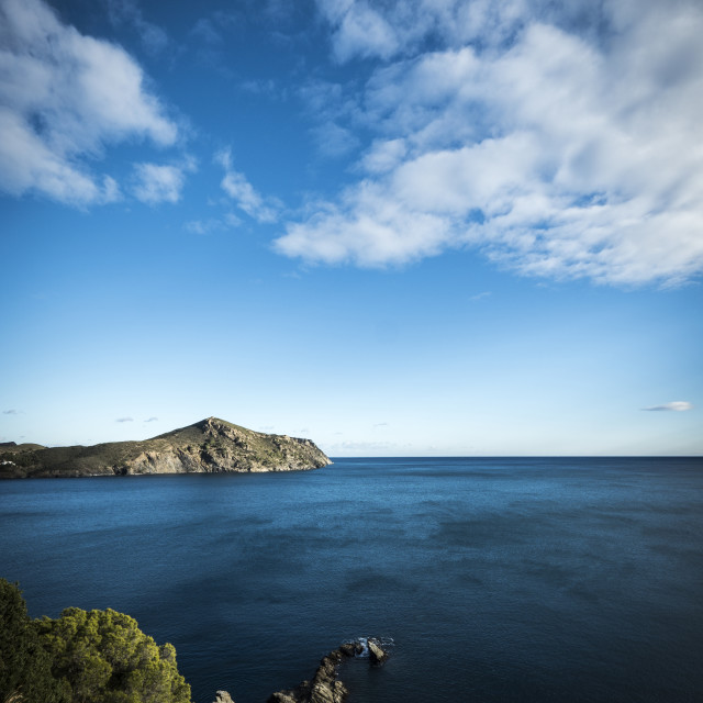 """""""Scenic view of sea against cloudy sky"""" stock image"""
