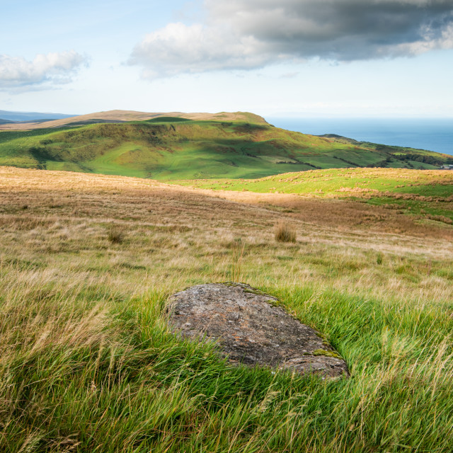 """""""The rolling hills of Antrim"""" stock image"""