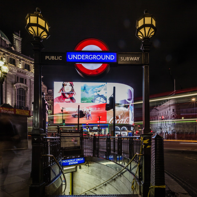 """Night Moves in Piccadilly"" stock image"