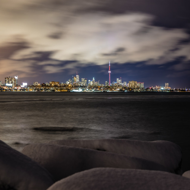 """Toronto at Night"" stock image"