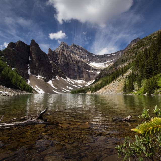 """Lake Agnes"" stock image"