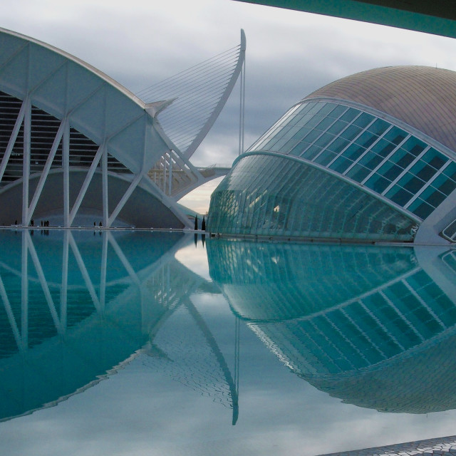 """""""Hemisphere And Science Museum Reflections"""" stock image"""