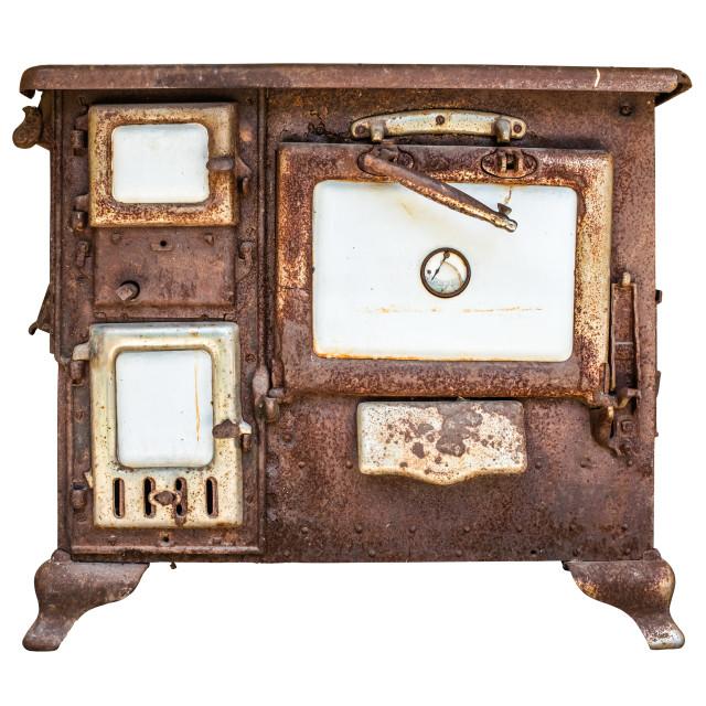 """Rusty Vintage Stove Or Range"" stock image"