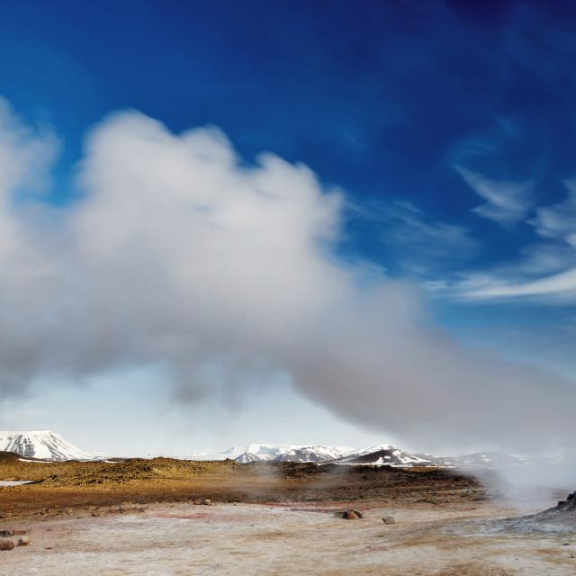 """Fumarole, Hverir geothermal area, Iceland"" stock image"