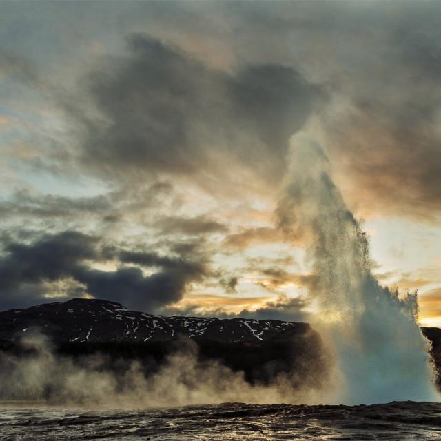"""Strokkur geyser, Iceland"" stock image"