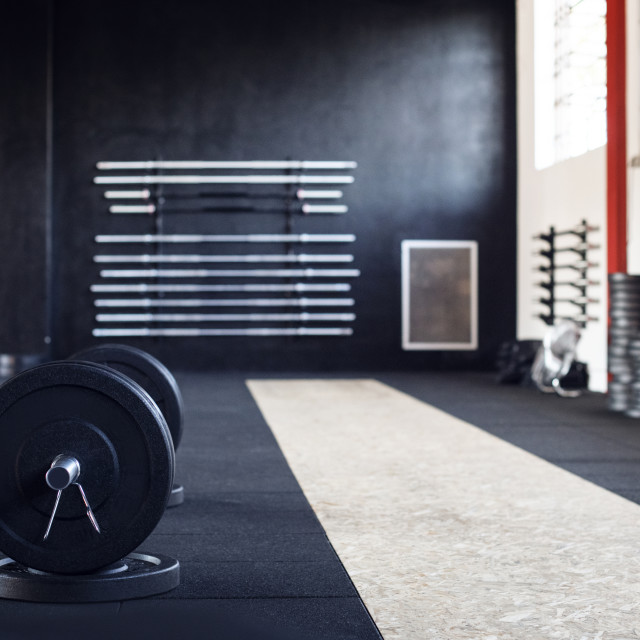 """""""Barbell in gym"""" stock image"""