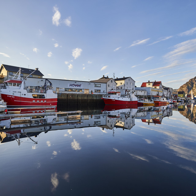 """Henningsvær Harbour - No. 1"" stock image"